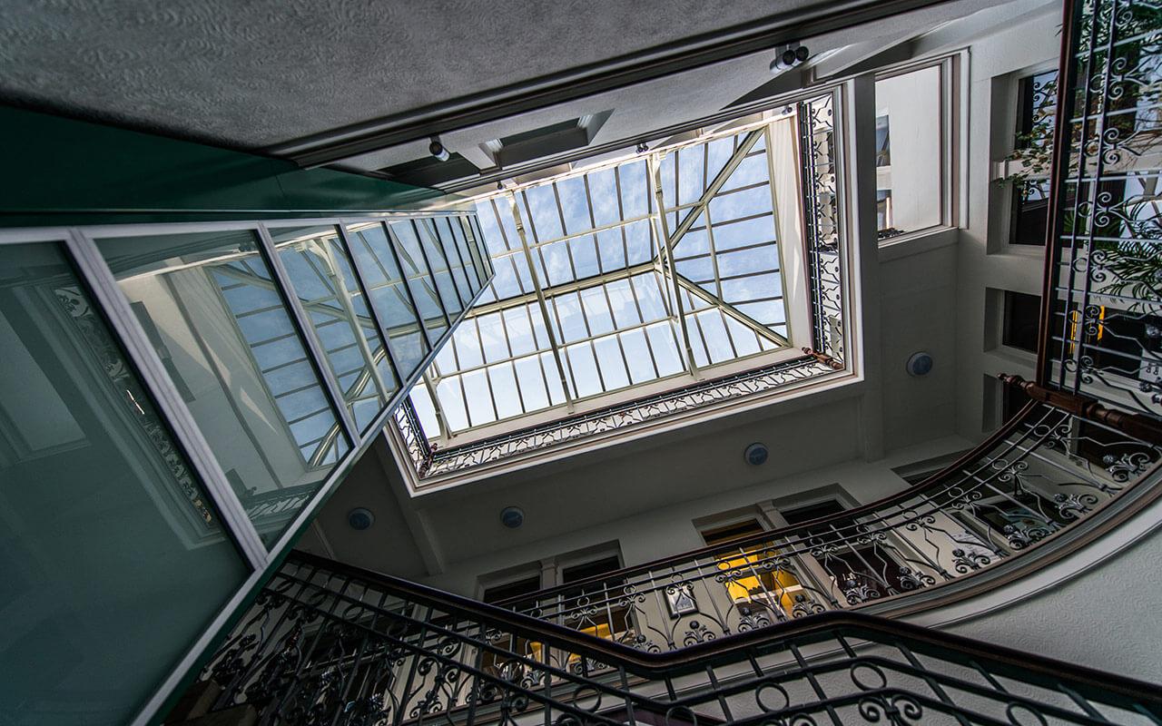 Longden & Cook atrium